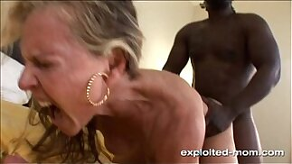Blonde Milf gets her Back Blown Out by a Big Black mamba Cock Interracial Video