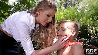 Mistress Danielle Maye ravages her Submissive before Ass Fucking her