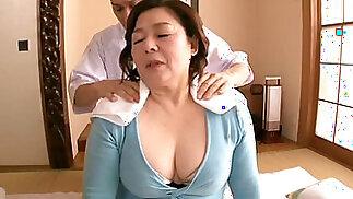 Mature Asian BBW Shizuko Ouchi fucked hard