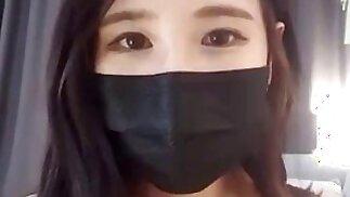 Korean black masked bj